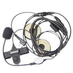 2 Pin Open/Half Face Motorcycle Bike Helmet Earpiece Headset