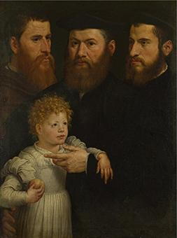 'Netherlandish Three Men And A Little Girl ' Oil Painting, 2