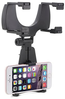 Aduro Rearview Mirror Car Mount Grip Clip for Universal Smar