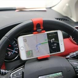 Universal Bike Car Steering Wheel Cradle Cell Phone Gps Clip