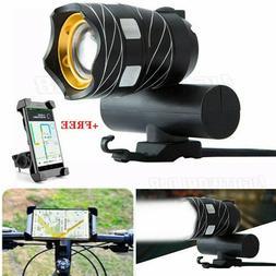T6 LED MTB Bicycle Light XM-L Racing Bike Front Headlight +H