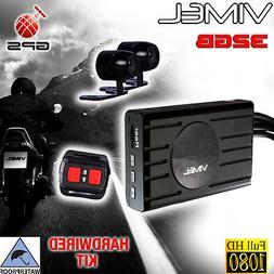 Twin Bike Camera Motorcycle GPS 1080 Dual Car Waterproof Har