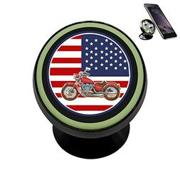 US Flag Motorcycles Magnetic Phone Car Mount Holder Universa