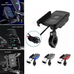 US Motorcycle Cell Phone GPS Handlebar Mirror Mount Holder W