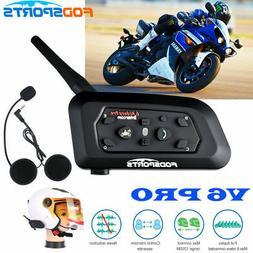 V6 BT Bluetooth Motorcycle Helmet Interphone Intercom Headse
