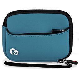 Vangoddy VG Metallic Blue Neoprene Glove for TomTom VIA 1535
