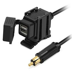 Rupse 12V Waterproof Dual USB Charger Adapter with Powerlet