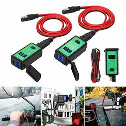 Waterproof Motorcycle 12V SAE to Dual USB Phone GPS Charger