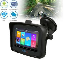 """Waterproof Motorcycle GPS Navigator 5"""" Touch Screen 16GB WiF"""