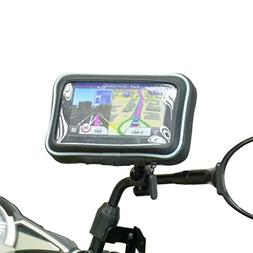 Waterproof Motorcycle Mirror Stem Mount for Garmin Nuvi 2519
