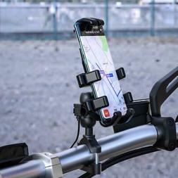 Waterproof SAE to QC3.0 USB Adapter Motorcycle Handlebar Cel